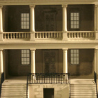 Plaster model of Drayton Hall, Model by Timothy Richards, Bath, England. Image courtesy of RIBA Library Drawings and Archives Collections