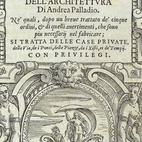 Frontispiece to Andrea Palladio's I Quatro libri dell'architettura, 1570. Image courtesy of RIBA Library Drawings and Archives Collections