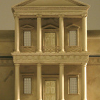 Plaster model of Monticello, Model by Timothy Richards, Bath, England. Image courtesy of RIBA Library Drawings and Archives Collections
