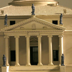 Plaster model of Villa Rotunda Model, by Timothy Richards, Bath, England. Image courtesy of RIBA Library Drawings and Archives Collections