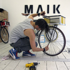 """""""Our first model is already at our shop, a hand-built bike crate. The hand-built model will be our flagship model with a limited production sold at selected retailers only. The four other models are consumer models and will be sold and distributed widely along with our big range of affordable accessories."""""""