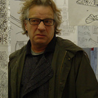 One of the highlights of the trip as been the opportunity to catch the last day of the exhibition Mariscal en la Pedrera, a retrospective of the Spanish designer's work over the last forty years. The only thing better than seeing an exhibit of work that you admire is seeing it accompanied by the artist himself. Here is Javier Mariscal at the entrance to the exhibition, surrounded by a hanging forest of sketches that date back to the 1960s.  Photo by: Amanda Dameron