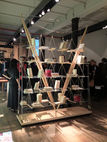 The Veliero bookshelf by Franco Albini made its U.S. debut at Cassina's SoHo showroom on Tuesday, May 1st.