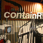 As part of the cultural countdown to the winter Olympics in Vancouver 2010, media art group Springboard—a trio composed of architect Robert Duke, designers Keith Doyle and Iain Sinclair, and artistic directors Nicole Mion and Evann Seibens—created containR, a traveling art film house.