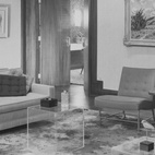 A 1950's interior featuring the Terra rug.