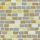 A neutral array of the mosaic tile by Erin Adams.  Photo by: Diana Budds
