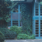 The copper exterior of the Stein House from 1933 shows a clear debt to Dow's teacher and mentor Frank Lloyd Wright.