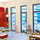 Another view of Jongerius's studio, full of colorful evidence of creativity at work.  Photo by: Oliver MarkCourtesy of: © 2011 Oliver Mark