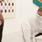 Gary Snyder at Art Miami in 2009.  Courtesy of � Andy Freeberg all rights reserved.