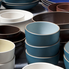 A multi-hued sea of serve bowls in the San Francisco Ferry Building shop.  Photo by: Dustin Aksland
