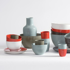 1997B-Set porcelain tableware launches a long-running collaboration with Royal Tichelaar Makkum.  Photo by: Oliver Mark
