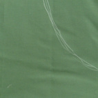 Fold the green fabric in half, width-wise, and draw out your Jabba shape in chalk.