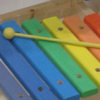 Play musical chairs. Literally. A cute little Xylophone seat from Dpot.Don't miss a word of Dwell! Download our  FREE app from iTunes, friend us on Facebook, or follow us on Twitter!