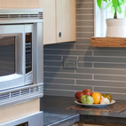 Linden salvaged her Kitchen Aid oven and microwave from a friend who was updating his kitchen.