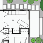 Here's the plan of Linden's 600-square-foot Seattle residence. Don't miss a word of Dwell! Download our  FREE app from iTunes, friend us on Facebook, or follow us on Twitter!