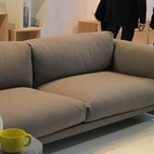 I loved most things at Muuto, known for their fresh Scandinavian designs. They just unveiled a whole fleet of new designs, including two visible in this photo: their first couch ever, the 'Rest,' which I will attest is incredibly comfortable; and the 'Bulky' tea set, which comes in white, gray, and a bright perky yellow.