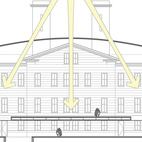 The central courtyard in the building was designed to allow daylight to penetrate to the ground floors of the building. In 1914 a new floor was built higher up, cutting off the bottom floors from daylight. Modifying that addition will permit Mullet's ideas to come back into play.