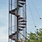 Not all of Goff's work was residential. The Play Tower is located at a city park in Bartlesville, Oklahoma. Goff lived in Bartlesville for several years.