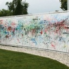 "After a few days, the wall is a jubilant mess. The designers call the result a ""diary of the garden."""