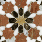 """San Diego–based interior designer Paul Schatz used New Ravenna's tile for his custom residential projects many times during his career (he's been working since the 1970s), but took the plunge into product design this year. """"Working with the New Ravenna team after a long and fulfilling career is an amazing creative experience,"""" says Schatz. Here's his Granada design, one of my favorites from the whole show.  Photo by: Diana Budds"""