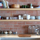Here's another view of our organized, highly functional kitchen.