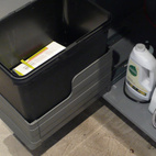 I love my under-counter recycling bin from IKEA.