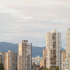 With the Coast Mountains in the background and the Strait of Georgia in the foreground, there's no bad view if you live in one of Vancouver's many midrises.  Photo by João Canziani.   This originally appeared in Vancouver Maneuvers.