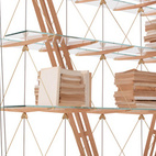 In 1940, architect Franco Albini made a single model of his ship's rigging-like Veliero bookcase for his Milan home—where it eventually collapsed. Sixty-six years later, Cassina fabricated the shelves in a re-creation of Albini's study for the Renzo Piano-curated Zero Gravity exhibition. Again: poor stability. But Cassina, which has committed to keeping alive the work of select master architects in the form of its I Maestri collection, did not give up. Instead, it embarked on an epic five-year R&D effort that would lead to the product's launch in April 2012.    This originally appeared in Veliero Shelving by Cassina.