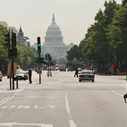 Pierre L'Enfant's city plan adores grand vistas, like this one on Pennsylvania Avenue NW.  Photo by: Matthew Monteith