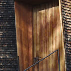 The color gradient in the cladding is quite beautiful - much of the bottom has lost a good portion of its original wood hues, due to weathering and the harsh climate of Switzerland.
