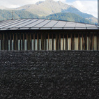 My first stop was Zumthor's celebrated St. Benedict Chapel in the snug village of Sumvitg. Designed in 1988, this serene, mysterious structure was built before Zumthor was an international household name.