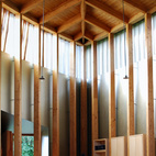 Here is the perspective from behind the altar. The high windows let in an ethereal sense of daylighting without the distraction of direct outside views.
