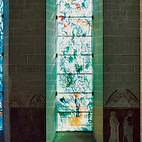Stained-glass windows by Marc Chagall illuminate the choir at Fraumünster Church.  Photo by: Gunnar Knechtel