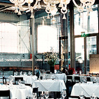 The trendy Zurich West district is home to the restaurant LaSalle, whose refined interiors contrast with the industrial environs.  Photo by: Gunnar Knechtel