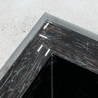 A detail of the basin Atherton made for the kitchen.