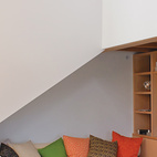 Built-ins reduce the need for furniture.  Photo by: Shawn Records