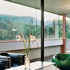 Sleek, modern furniture by designers like Le Corbusier and Verner Panton set off the super-minimalist interiors of a concrete prefab outside of Zurich. Photo by Hertha Hurnaus.  Photo by Hertha Hurnaus.   This originally appeared in Swiss Mix.