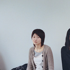 Nakamura (far right), Masako Nishizaki (the only resident not involved in design), and Ippei Takahashi enjoy a sushi lunch.
