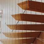 """The """"floating"""" staircase is actually supported by steel rods hidden within each step."""