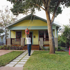 "The 980 square feet of Blake Trabulsi and Allison Orr's Austin, Texas, bungalow is so comfortable that their biggest issue is getting guests to go home. ""We talked about a two-story addition. But it would have been way out of our budget, and it would have overwhelmed the existing house. We figured out early on that we didn't want to build something so large that the old spaces wouldn't be used,"" Trabulsi says.   Photo by Jack Thompson.   This originally appeared in Double Time."