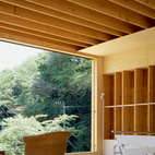 In Japan, where the average life span of a building is about 25 years, using basic materials like plywood was essential to Murai's design.  Photo by: Alessio Guarino