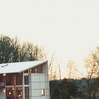 The Weber residence sits comfortably in the rich, green Wisconsin valley.