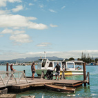 A short walk down the road, a ferry service carries passengers on the two-minute journey across the channel to the small town of Whitianga.  Photo by: Matthew WilliamsCourtesy of: matthew williams