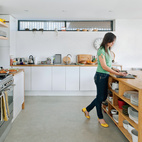 """About her collection of cookware, Tyler comments: """"I use accessories as the color in spaces so these items are an integral part of the overall design.""""  Courtesy of Andrew Meredith 2007."""