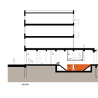 The section showing the dugout in orange.Don't miss a word of Dwell! Download our  FREE app from iTunes, friend us on Facebook, or follow us on Twitter!