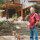 """Architect and builder Ken Meffan lives in Rough and Ready, California, a tiny town in the foothills of the Sierra Nevada mountains. """"Rough and ready"""" also describes his take on domestic bliss: Meffan, 56, is known for his rugged, modern houses in the High Sierra. But when it came to creating his own homestead, he, his wife, Sue, and their four kids roughed it for over a decade (two years in a tent and nine in a workshop) while he built his family's home by hand.  Photo by: Todd Hido"""
