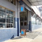 Here's the storefront. For more about Blue Bottle Coffee, please visit bluebottlecoffee.com.  Courtesy of 2012, Clay McLachlan.