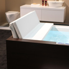 Duravit (booth #645) took the bath category with their outdoor tub and screen.  Photo by: Alejandro Chavetta