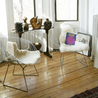 """We got these Bertoia chairs for practically nothing from an auction held at a barn in the Catskills,"" says Sophie Demenge, cofounder of infant brand Oeuf. ""We were the only ones bidding on them."" See more of her kid-friendly home in Brooklyn.    This originally appeared in The Modern Baby: Part Four."
