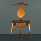 Combining the best traits of a bench and a butler, Hans Wegner's 1953 Valet chair is the one piece of midcentury-modern furniture that the fastidiously turned-out chap overlooks at his peril. Marrying formal elegance—these handsome curves have been handcrafted in PP Møbler's Danish workshop since it took over production in 1982—with a surprising functionalism, the Valet chair all but does away with the need for Jeeves. Initially a four-legged chair, Wegner decided to trim the final product and arrived at a tripod design, though he maintained the initial design when Danish King Frederick IX requested his own. Manufactured by PP Møbler.  Courtesy of Fantl Photography LLC.
